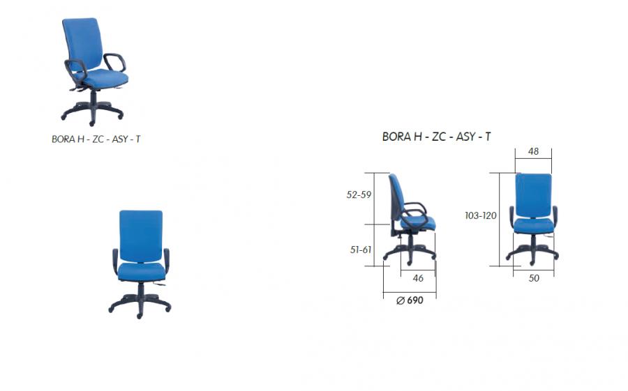 scaun operational birou bora h 2